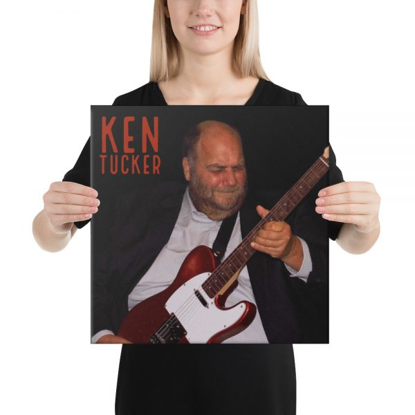 Ken Tucker Guitar Legend Real Canvas Print