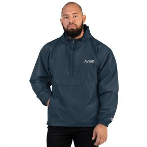 AViiiO Official Logo Embroidered Champion Packable Jacket