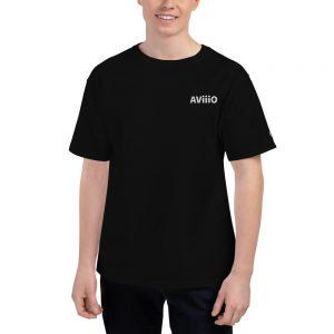 AViiiO Official Logo Premium Men's Champion T-Shirt White