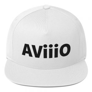 AViiiO Official Logo Flat Bill Cap White