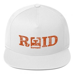 Matthew Reid Official Embroidered Flat Bill Cap White