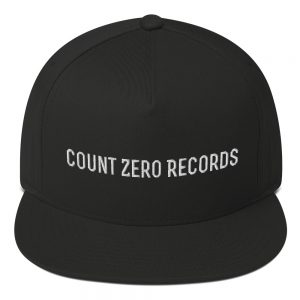 Count Zero Records Official Logo Flat Bill Cap (Premium Embroidery)