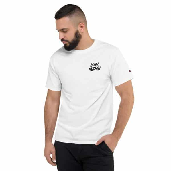 Max Vizion Men's Premium Embroidered Champion T-Shirt