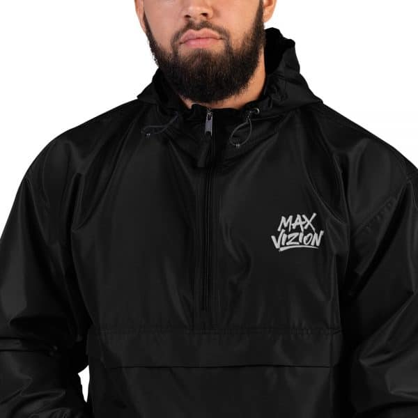 Max Vizion Official Logo Embroidered Champion Packable Jacket