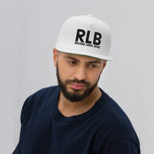 Record Label Boss Official Logo Flat Bill Cap White