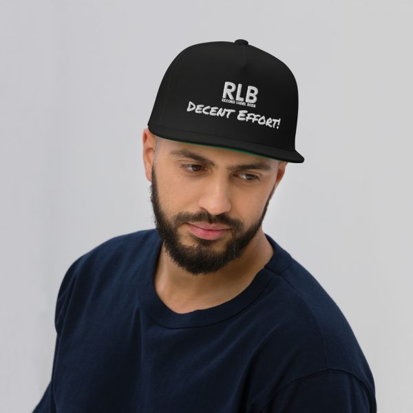 Record Label Boss Official Decent Effort! Premium Embroidered Flat Bill Cap Black