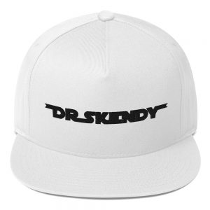 Dr. Skendy Official Logo Flat Bill Cap White