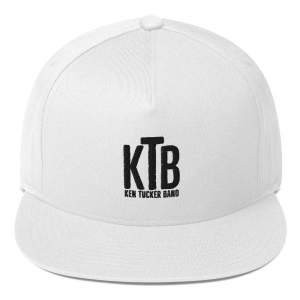 Ken Tucker Band Official Logo Flat Bill Cap White