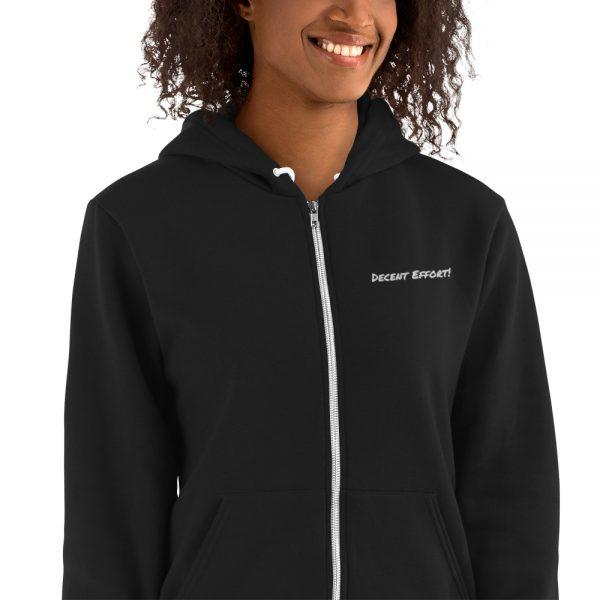 Record Label Boss - Decent Effort! (alternative) American Apparel Zip-up Hoodie sweater