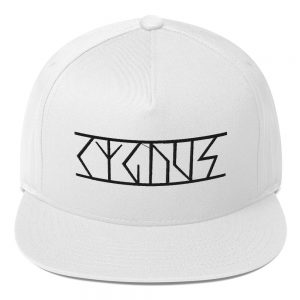 Cygnus Official Logo Flat Bill Cap White