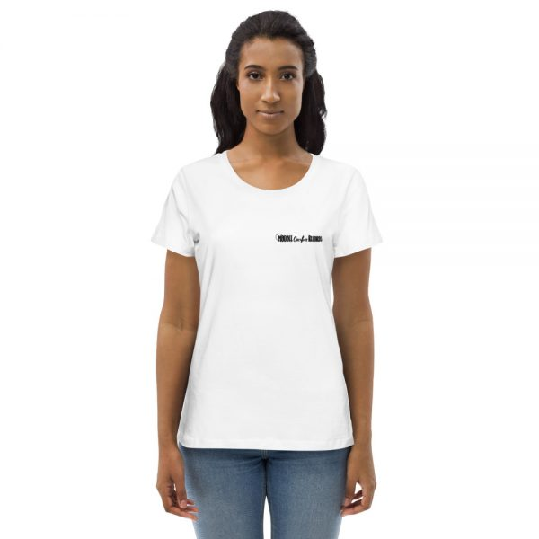 Moodee Cactus Records Official Logo Womans Fitted Eco Tee