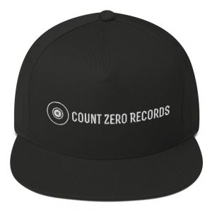 Count Zero Records Official Logo Flat Bill Cap (Premium Embroidery)