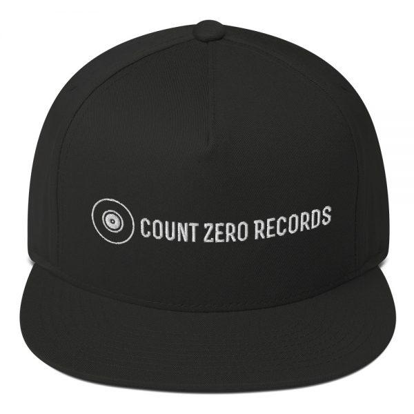 STAFF - NEUTRAL Count Zero Records Official Logo Flat Bill Cap